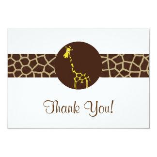 Giraffen-Druck danken Ihnen Karte