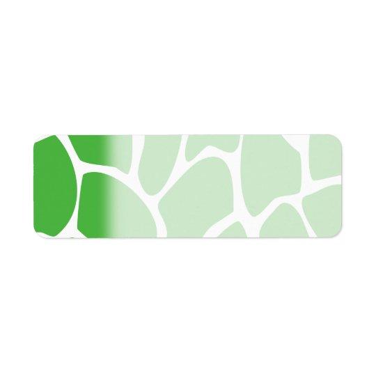 Giraffen-Druck-Muster im Dschungel-Grün Kleiner Adressaufkleber