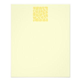 Giraffen-Druck-Muster im Gelb Flyerdruck