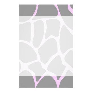 Giraffen-Druck-Muster im Grau 14 X 21,6 Cm Flyer