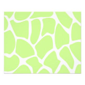 Giraffen-Druck-Muster im hellen Limonen Grün 11,4 X 14,2 Cm Flyer
