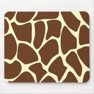 Giraffen-Druck-Muster in dunklem Brown Mauspad