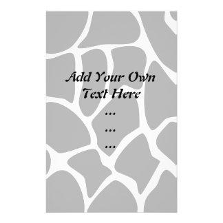 Giraffen-Druck-Muster. Tierdruck-Entwurf, schwarz 14 X 21,6 Cm Flyer