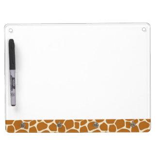 Giraffen-Druck-trockenes Löschen-Brett Trockenlöschtafel Mit Schlüsselanhängern