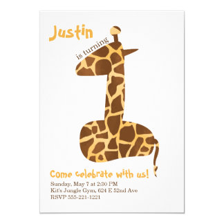 Giraffen-erste Geburtstags-Party Einladung
