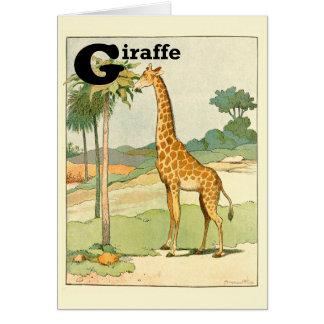 Giraffen-Essenakazien-Alphabet Karte