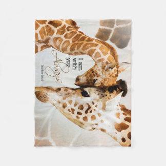 Giraffen-Fleecedecke Fleecedecke