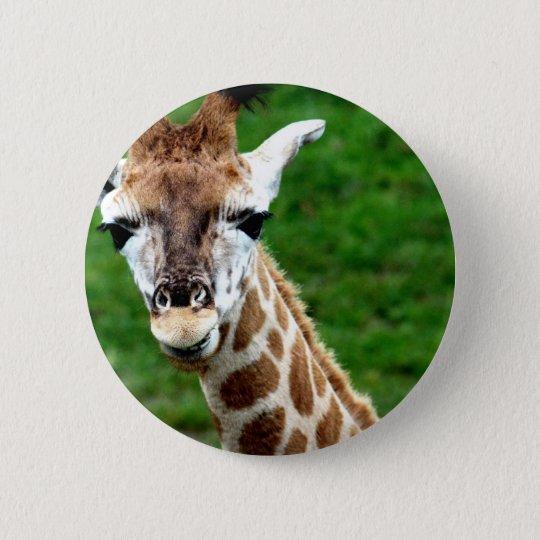 Giraffen-Foto-runder Knopf Runder Button 5,7 Cm