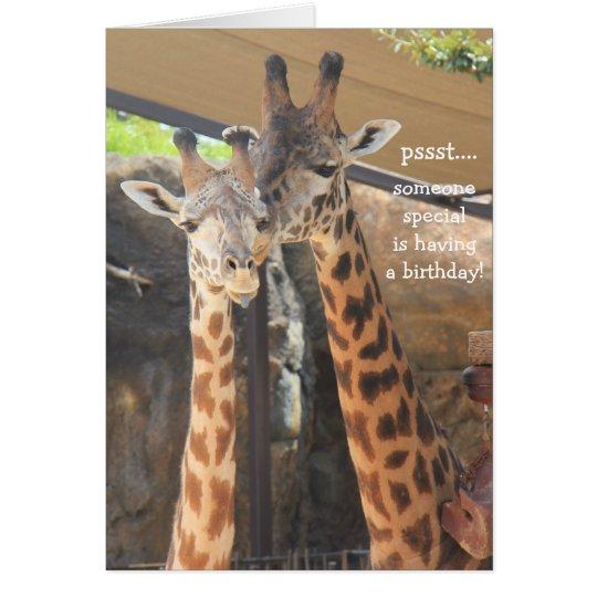 Giraffen-Geburtstags-Karte für jemand speziell Karte