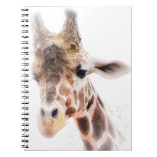 Giraffen-gewundenes Notizbuch Spiral Notizblock