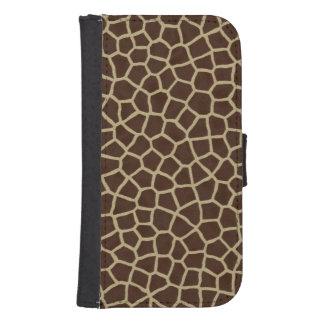 Giraffen-Haut Geldbeutel Hülle Für Das Samsung Galaxy S4