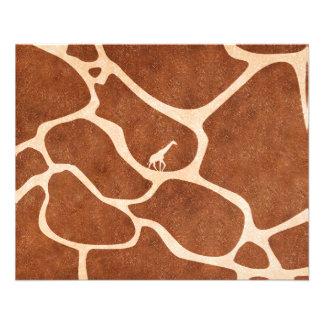 Giraffen-Haut-Muster-Oberfläche befleckt Linien 11,4 X 14,2 Cm Flyer