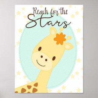 Giraffen-Kinderzimmer Plakat