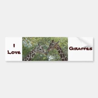 Giraffen-Liebe Autoaufkleber