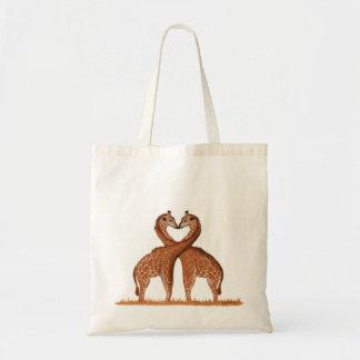 Giraffen-Liebe-Taschen-Taschen Tragetasche