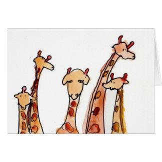 Giraffen • Maximales Hutcheson, Alter 11 Mitteilungskarte