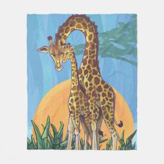 Giraffen-Mutter und Baby Fleecedecke
