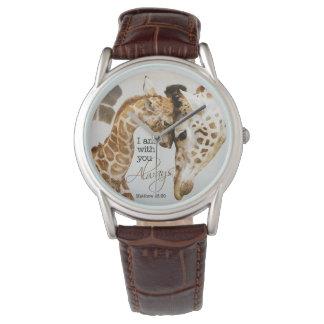 Giraffen-Uhr Armbanduhr