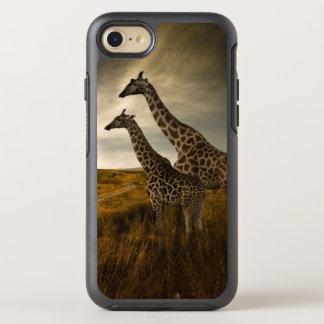 Giraffen und die Landschaft OtterBox Symmetry iPhone 8/7 Hülle