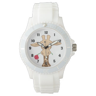 Giraffen-und Rosen-Uhr Uhr
