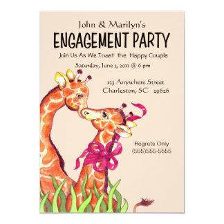 Giraffen-Verlobungs-Party Einladungen 12,7 X 17,8 Cm Einladungskarte