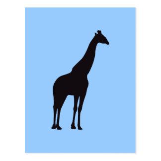 Giraffen-Vintager hölzerner Stich Postkarte