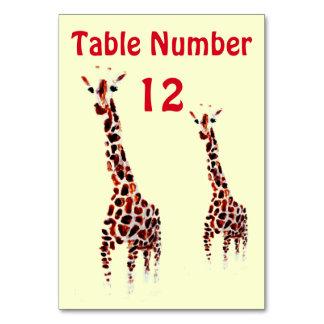 Giraffen-wildes Tier-Kunst Karte