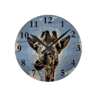 Giraffenkauen Runde Wanduhr