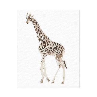 Giraffenpolygon-Kunstillustration Leinwanddruck