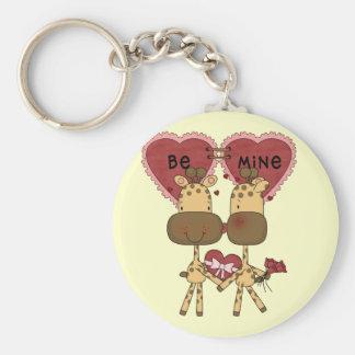 Giraffevalentine-Liebe-T - Shirts und Geschenke Schlüsselanhänger