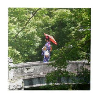 Girl Japan Kleine Quadratische Fliese