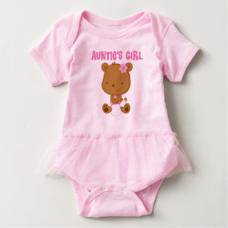Girl Tante Babybärnmädchen Ballettröckchen-T-Stück Baby Strampler