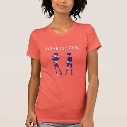 Girls SCHLIESST IS LOVE auf T-Shirt