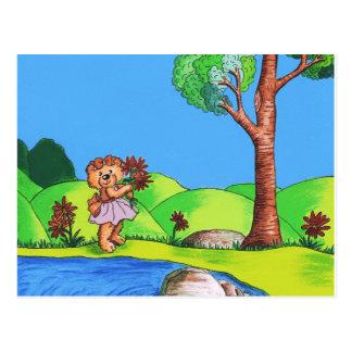 Girly Bär Postkarte