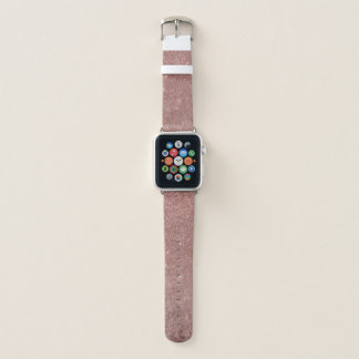 Girly bezaubernde rosa Rosen-Goldfolie und Apple Watch Armband