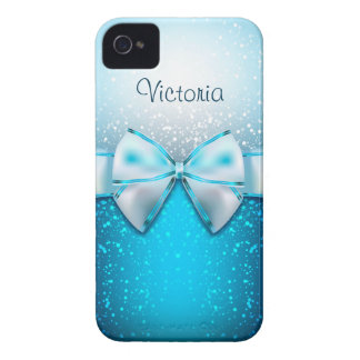 Girly blauer Glitter-Feiertag iPhone 4 Kasten iPhone 4 Cover