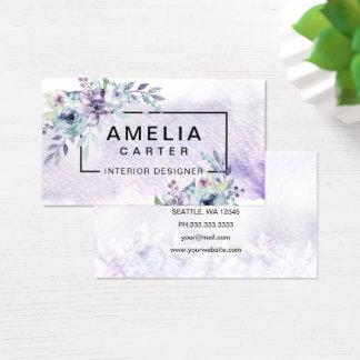 Girly BlumenVisitenkarten des eleganten Aquarells Visitenkarte