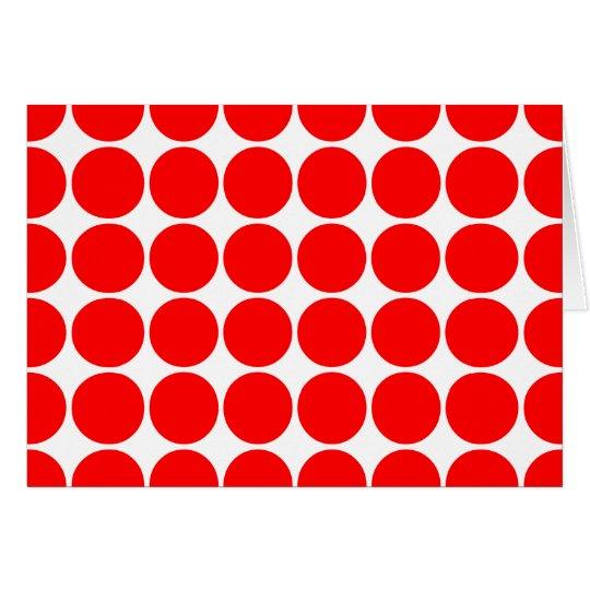Girly Chic-Zusatz-Party-Leckerei-rote Polka-Punkte Mitteilungskarte