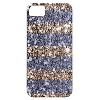 Girly Glitzer-Blick-Streifen im violetten Silber Schutzhülle Fürs iPhone 5