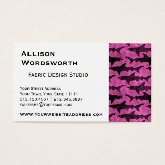 Girly Haifisch-Pink Visitenkarte