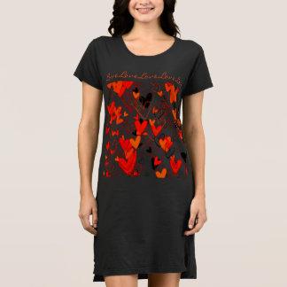 Girly Herz-Liebe-Muster-romantisches reizendes Kleid