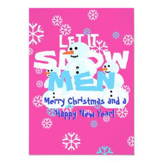 Girly laissez-le neiger Noël de mauvais goût de Carton D'invitation 12,7 Cm X 17,78 Cm