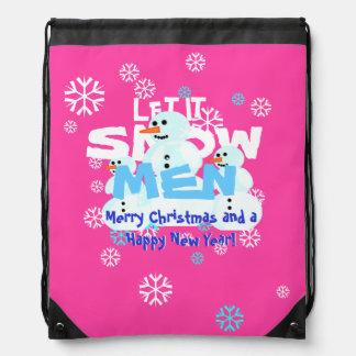 Girly laissez-le neiger Noël de mauvais goût de Sac Avec Cordons