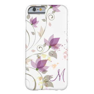 Girly lila Lavendel BlumenMonogra Barely There iPhone 6 Hülle