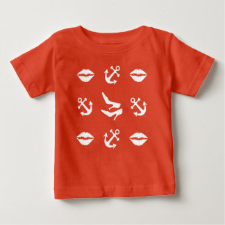 Girly lustiges Seemuster Baby T-shirt