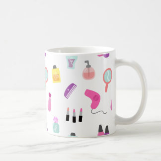 Girly Make-up, Schönheit, Pflegenmuster Kaffeetasse