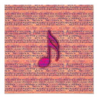 Girly modische musikalische Anmerkung über Noten Kunst Foto