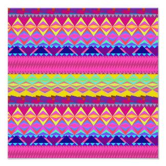 Girly niedlicher trendy aztekischer Anden-Entwurf Kunstphoto