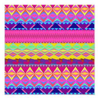Girly niedlicher trendy aztekischer Anden-Entwurf Photographischer Druck