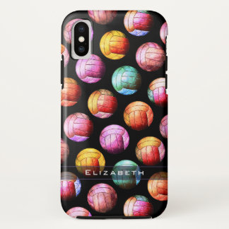 Girly Popkunst-Volleyballmuster iPhone X Hülle